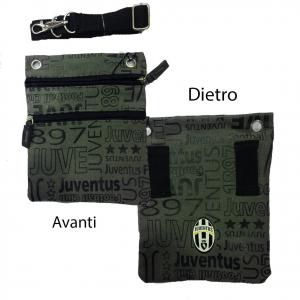 JUVENTUS tracollina regolabile passanti cinta in stoffa grigia con stemma 2 tasc