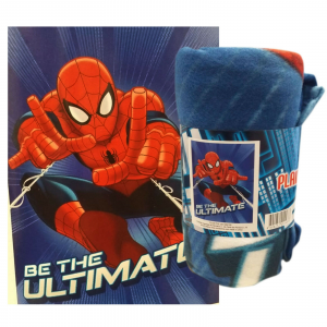 SPIDERMAN plaid blu in pile caldo 100x150 cm