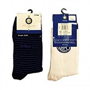 INTER 2 paia di calzini lunghi in morbido cotone varie taglie da bambino ufficia