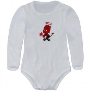MILAN body manica lunga in cotone bianco varie taglie da neonato