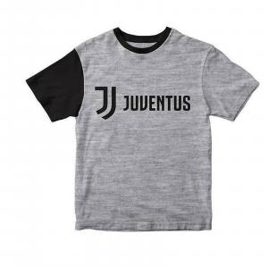 JUVENTUS T-SHIRT JERSEY BIMBO KID grigia con logho  JJ in nero 4/6/8/10/12ANNI