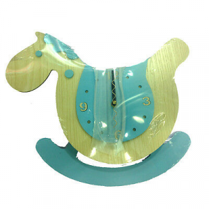 Orologio da parete a forma di cavalluccio celeste con pendolo in legno da bambin
