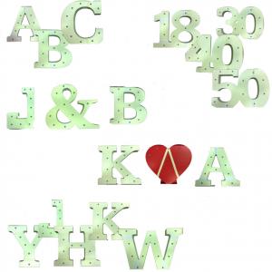 Lettere nomi iniziali a LED in legno SAY IN LIGHTS alfabeto luminoso 16 cm