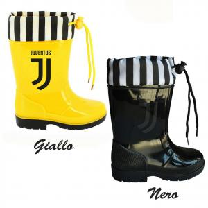 JUVENTUS galosce stivali in gomma pioggia bambino prodotto ufficiale gialle nere
