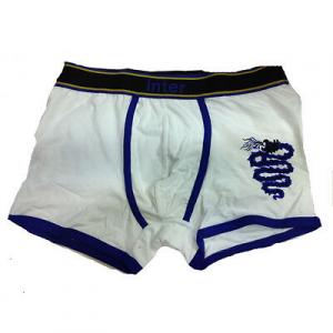 INTER boxer uomo bianco in cotone varie taglie underwear prodotto ufficiale