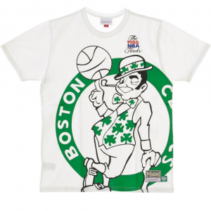 Mitchell e Ness T-shirt Bianca da Uomo