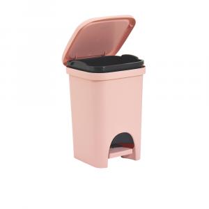Pattumiera Linea Colors Capacità 6 Litri Colore Cipria Da Camera o Bagno Con Pedale Colori Pastello
