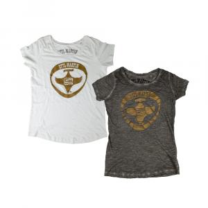 T-shirt vintage Stylmartin bianco, grigio - uomo