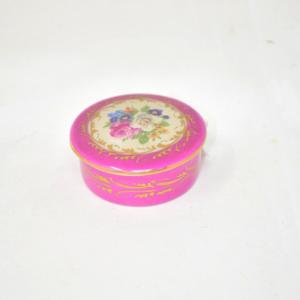 Scatolina Porcellana Di Limoges Rosa 6cm