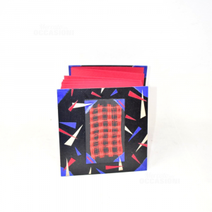 Portafoto A Fisarmonica Nero Rosso Blu