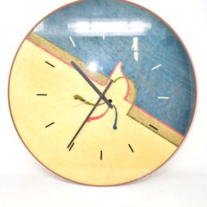 Orologio Da Parete In Legno Artigianale Cm48