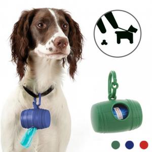 Porta Sacchetti per la Raccolta delle Feci del Cane (con 15 Sacchetti)