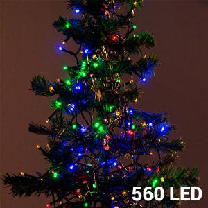 Luci di Natale multicolore (560 LED)