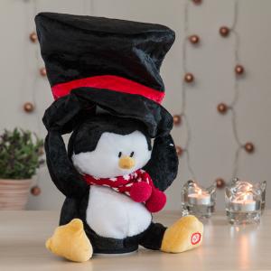 Peluche di Natale con Suoni e Movimento - Design: Pinguino