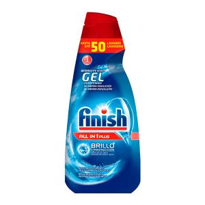 Detergente per Lavastoviglie Finish Gel All in One Plus 1 L (50 Lavaggi) - Quantità: x1