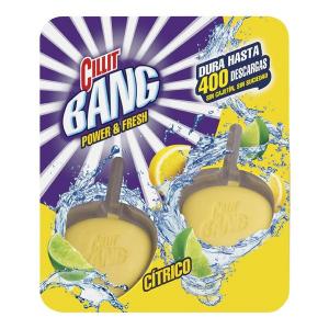 Deodorante in Pastiglie per WC agli Agrumi WC Power & Fresh Cillit Bang (Pacco da 2) - Quantità: x1