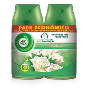 Ricarica per Deodorante per Ambienti Air Wick FreshMatic Duplo White Bouquet 2 x 250 ml