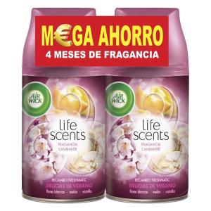 Ricarica per Deodorante per Ambienti Air Wick FreshMatic Duplo Life Scents Delizie Estive 2 x 250 ml