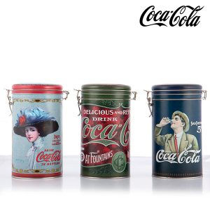 Barattolo Vintage in Metallo Coca-Cola