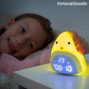 Sveglia LED Touch Ricaricabile in Silicone Chick InnovaGoods