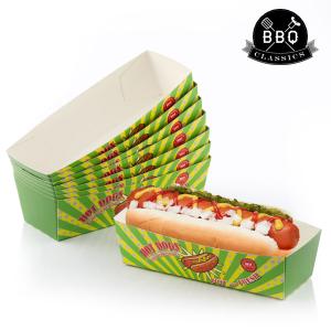 Set di Scatole per Hot Dog BBQ Classics (Pacco da 8)
