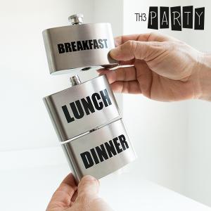Fiaschetta in Metallo Breakfast-Lunch-Dinner Th3 Party