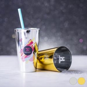 Bicchiere di Vetro (480 ml) 145985 - Colore: Dorato