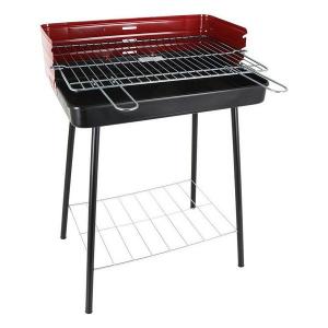 Barbecue a Carbone con Gambe Algon Nero Rosso (52 X 37 x 71,5 cm)
