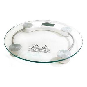 Bilancia Digitale da Bagno Basic Home Trasparente (ø 33 cm)