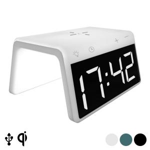 Sveglia con Caricabatterie Senza Fili KSIX Qi 10W - Colore: Bianco