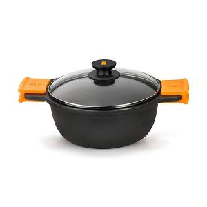 Casseruola con coperchio in vetro BRA A270328 5,7 L (Ø 28 cm) Aluminio