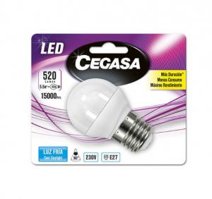 Lampadina LED Sferica Cegasa E27 5,5 W A+