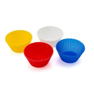 Stampi in Silicone per Cupcake (4 pcs) 143983 - Colore: Multicolore