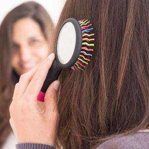 Spazzola per Capelli con Specchio Arcobaleno