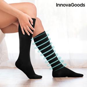 Calze a Compressione Relax InnovaGoods - Colore: Nero