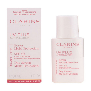 Protezione Solare Viso Uv Plus Anti Pollution Clarins Spf 50 (30 ml)