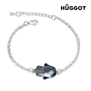 Bracciale Placcato in Rodio Girl Hûggot Realizzata con Cristalli Swarovski® (20 cm)