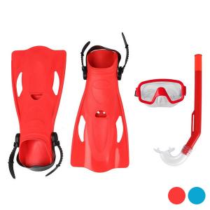 Maschera da Snorkeling con Boccaglio e Pinne Adulti - Colore: Azzurro