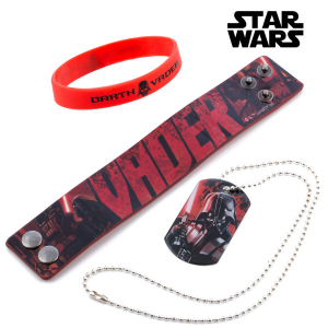 Bracciali e Ciondolo Darth Vader (Star Wars)