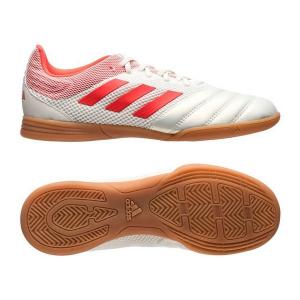 Scarpe da Calcio a 5 per Bambini Adidas Copa 19.3 In Bianco Rosso - Taglia Calzatura: 30