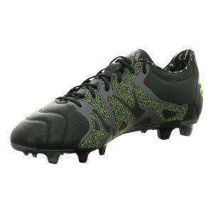 Scarpe da Calcio per Adulti Adidas X 15.2 FG/AG Leather Nero - Taglia Calzatura: 42,5 (EU) - 8 (UK)