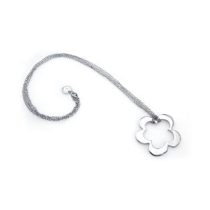 Collana Donna con Ciondolo Fiore Agatha Ruiz De La Prada (6 - 51,5 cm) 147102 - Colore: Argentato