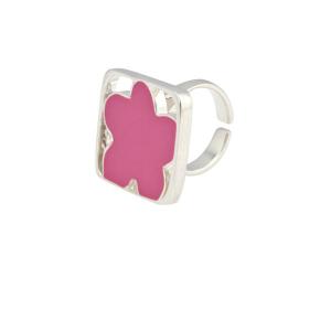 Anello Donna di Metallo Smaltato Agatha Ruiz De La Prada 147270 - Colore: Fucsia