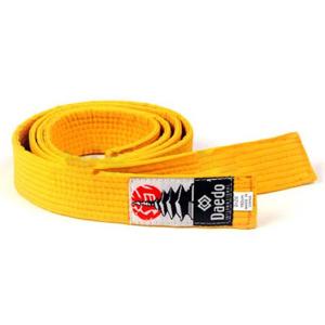 Cintura Arti Marziali Noris Competition Unisex Cotone - Colore: Giallo - Dimensioni: 2,9 m