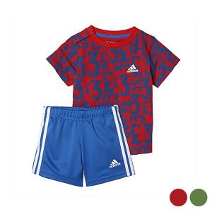 Completo Sportivo per Neonati Adidas I Sum Count - Colore: Rosso - Taglia: 18-24 Mesi