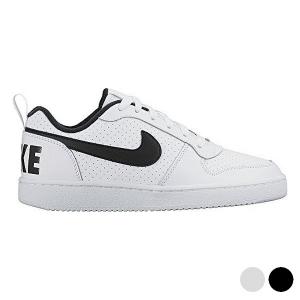 Scarpe Sportive per Bambini Nike COURT BOROUGH LOW (GS) Bianco Nero (Taglia usa) - Taglia Calzatura: 5Y