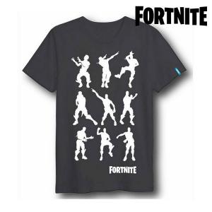 Maglia a Maniche Corte Unisex Fortnite 75061 Nero - Taglia: XL