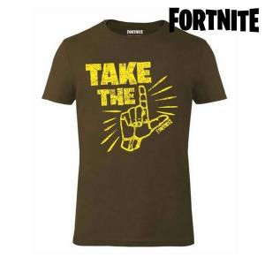 Maglia a Maniche Corte Unisex Fortnite 75064 Kaki - Taglia: S