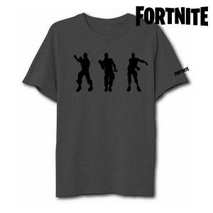 Maglia a Maniche Corte Unisex Fortnite 75063 Grigio - Taglia: XS