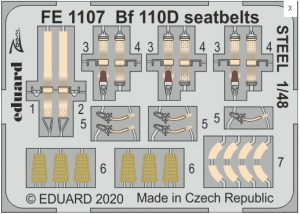 Me 110D seatbelts STEEL